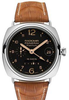f9fcb5efc018 Часы наручные Officine Panerai Radiomir 10 Days GMT Limited Edition 100 PAM  00495 - платиновые часы