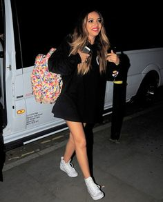 Jade Thirlwall arriving The Radisson Hotel in Manchester, July 18,2015.