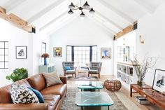 """""""The concept behind the remodel was to create a fresh take on the existing, very traditional style of the 1920s Silverlake bungalow,"""" says Stefani Stein."""