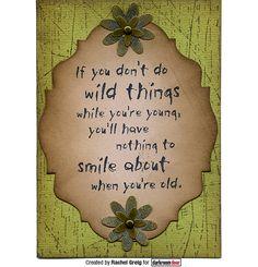 Darkroom Door Wild Things Quote Stamp stamped onto Tim Holtz Baroque Sizzix die.