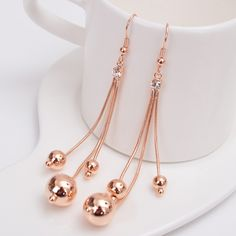 Find More Information about Popular Fashion Dangle Earring Elegant Earrings With Ball Long Design Tassel Dangle Drop Earring ,High Quality earring glass,China earring feather Suppliers, Cheap earring stone from Fashion Smile-Enjoy Your Life on Aliexpress.com