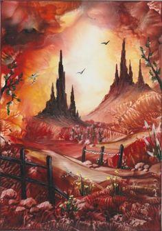 "Encaustic Wax Painting "" Golden Days "" Original J. Art Gallery, Lake Painting, Encaustic, Art Inspo, Drawings, Painting, Wax Painting, Art, Encaustic Wax"