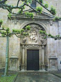 Guipuzcoa Cegama - Pórtico de la iglesia de San Martín de Tours.
