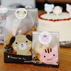 Semitransparent cut dog baking bag Cake Cookies by sweetloveqiner, $4.25