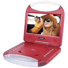 Sylvania SDVD1052-RED 10 Portable DVD Player with Integrated Handle (Red)