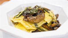Brown butter mushroom and sage ravioli is an elegant pasta dinner