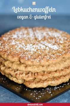 Gingerbread waffles – waffles – recipe – vegan – gluten-free – without egg – baking – without butter – simple – recipe for waffles in a waffle iron – Christmas – without sugar – sugar-free – quick – basic recipe Waffle Recipes, Baking Recipes, Vegan Recipes, Pancake Recipes, Quick Recipes, Salad Recipes Healthy Lunch, Salad Recipes For Dinner, Baking Without Butter, Waffel Vegan