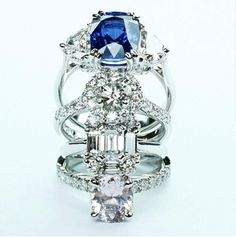 I am in love with sapphires and I'm not even a fan of the color blue... go figure!