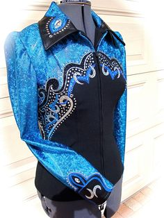 Western horse show shirt by KatollsWestern on Etsy. I'd show western just to have this shirt! Western Show Shirts, Western Show Clothes, Rodeo Shirts, Horse Show Clothes, Riding Clothes, Cowgirl Outfits, Equestrian Outfits, Western Outfits, Western Wear