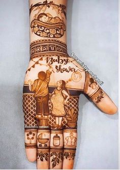 Baby Mehndi Design, New Bridal Mehndi Designs, Pretty Henna Designs, Back Hand Mehndi Designs, Mehndi Designs For Girls, Modern Mehndi Designs, Latest Mehndi Designs, Mehndi Designs For Hands, Lengha Dress