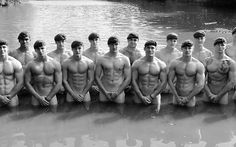 A group of Royal Marines have quite literally 'gone commando' - by launching a raunchy charity calendar. The men were from 40 Commando RM in Taunton, Somerset. British Marine, Green Beret, Royal Marines, Portraits, Men In Uniform, Raining Men, Military Men, Military Personnel, Military History