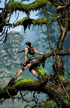 Lara Croft (Tomb Raider) by David Finch Lara Croft: Tomb Raider, Tomb Raider Game, Tom Raider, Comic Book Artists, Comic Books Art, Comic Art, David Finch, Marvel Comics, Mileena