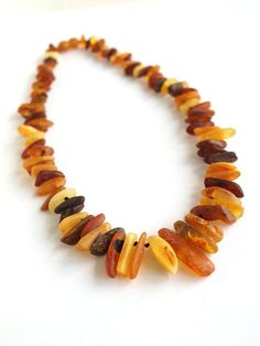 Raw Baltic amber necklace. Sleep with this on, at night and you will wake up feeling better in the morning.