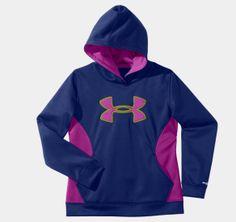 Girls' Armour® Fleece Storm Big Logo Hoodie