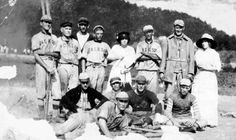 The Jackson, Kentucky baseball team about 1912. Team played on the Hargis Bottoms, now Breathitt High School.