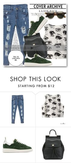 """""""BHALO !!"""" by dianagrigoryan ❤ liked on Polyvore featuring Golden Goose, Dolce&Gabbana and beautifulhalo"""