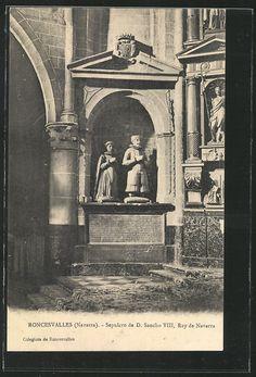 Roncesvalles, Sepulcro de D. Sancho VIII, Rey de Navarra | #Navarra