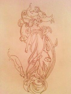 Art Nouveau Designs   Art Nouveau Design by ~limewine on deviantART
