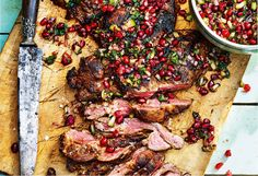 The classic Australian roast gets a flavousome and eye-popping Persian makeover courtesy of Sabrina Ghayour. Lamb Recipes, Meat Recipes, Dinner Recipes, Cooking Recipes, Yummy Recipes, Recipies, Roast Meat Recipe, Smoked Lamb, Rezepte