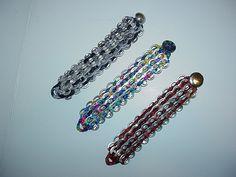 Pop top bracelets with button closure