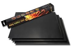 BBQ Grill Mat - Set of 3 Heat Mats - Make Grilling Easy with These 100% Non-stick Cookout Accessories - Protect Your Barbecue Parts and Also Cook More Healthily - Can Also be Used in Gas and Electric Ovens - Made of PTFE (PFOA free) - Easy to Clean and Dishwasher Safe - Unbeatable Lifetime No Questions Guarantee!, http://www.amazon.com/dp/B00KQ1VR5U/ref=cm_sw_r_pi_awdm_kN0xvb17B4XGT