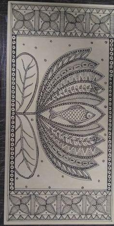 Doodle Art Drawing, Mandala Drawing, Mandala Painting, Art Drawings Sketches, Madhubani Art, Madhubani Painting, Zentangle, Phad Painting, Mandala Art Lesson