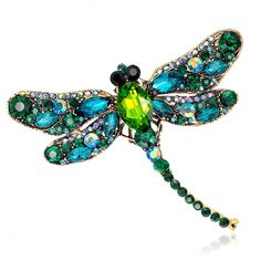 Vintage Design Shinny 6 Colors Crystal Rhinestone Dragonfly Brooches for Women Dress Scarf Brooch Pins Jewelry Accessories Gift Price: USD Jewelry Party, Cute Jewelry, Jewelry Crafts, Jewelry Sets, Vintage Jewelry, Jewelry Accessories, Fashion Accessories, Women Jewelry, Fashion Jewelry