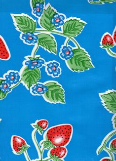 Modern oilcloth is a vinyl fabric with a 65% polyester 35% cotton scrim backing. Contemporary oilcloth is a direct descendant of the much older canvas cloths treated with linseed oils, hence the name oilcloth. This oilcloth is similar to it's outdated ancestor from the 1950s but is new and improved — it does not crack, peel, or fade with normal usage. Oilcloth Tablecloth, Vinyl Tablecloth, Oil Cloth Fabric, Laminated Cotton Fabric, Beatles Songs, Vinyl Fabric, Tissue Boxes, Flower Prints, As You Like