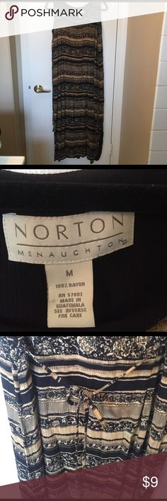 Norton dress Patterned short sleeve dress   Good condition. I smoke and have cats Norton Dresses Maxi