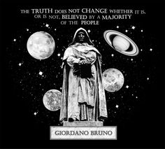 Giordano Bruno Truth Vs the Majority T-Shirt Design