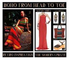 """Boho From Head To Toe"" by latoyacl ❤ liked on Polyvore featuring modern and vintage"
