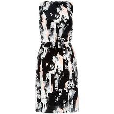 Fenn Wright Manson Lexie Silk Dress, Peony Multi ($180) ❤ liked on Polyvore featuring dresses, sleeveless shift dress, black dress, floral print maxi dress, maxi dress and black maxi dress