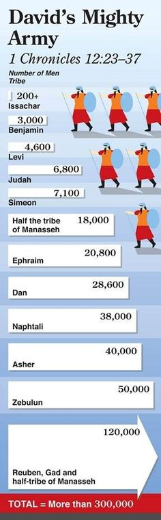 numbers info graphic on david s army based on tribes