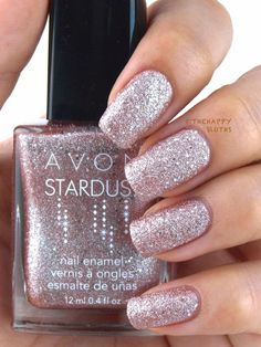 So pretty! Avon Stardust Nail Enamel in Crystallized Pink  www.youravon.com/skasten