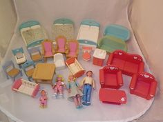 Small Lot Fisher Price Loving Family Dollhouse People Furniture Accessories | eBay