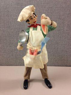 SOLD: Klumpe Roldan Vintage Chef Ready to Cook a Porterhouse Steak