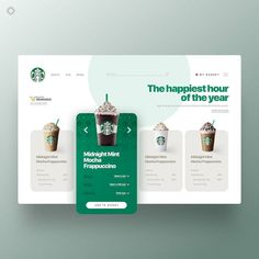 Concept design of ordering on starbucks website.- Concept design of ordering on starbucks website. Concept design of ordering on starbucks website. Web Design Trends, Ui Ux Design, Web Design Websites, Ui Design Mobile, Web Design Quotes, Layout Design, Logo Design, Web Layout, Flat Design