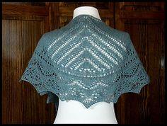 """Artemist"" lace shawlette knit in 100% Peruvian Highland wool fingering weight yarn (pattern by Marisa Hernandez)"