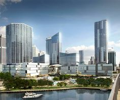 Massive Brickell City Center in Miami designed by Arquitectonica. #miami #architecture #arquitectonica #megadevelopment #construction #rendering
