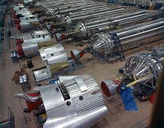 Atlas D series, Assembly Line-------2-24-59; caption: Atlas D Ass[embl]y Line, D Missiles on docks