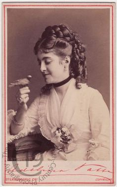 Birds were very popular pets during Victorian times.   Adelina Patti