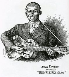 "Amos Easton - Known as ""Bumble Bee Slim"" - MID 1930 - r. crumb"