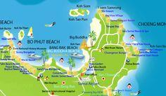 bophut beach map