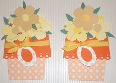 Blumentopfkarte, Flower Pot Pocket Card
