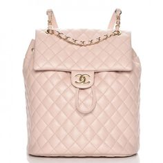 2df02c35648e Chanel Lambskin Quilted Large Urban Spirit Backpack in Beige - These is  such a lovely backpack