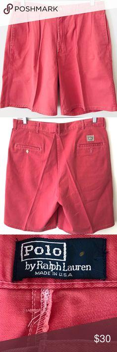 "7b34f828e7985 Ralph Lauren Polo Chino Tyler Shorts 36 Pleated True vintage 90s Ralph  Lauren Polo Chino """