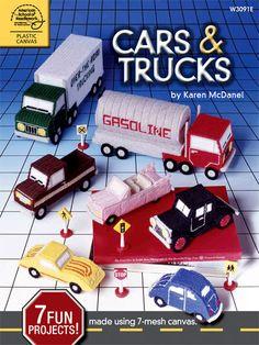 More Plastic Canvas fun for boys - Cars & Trucks