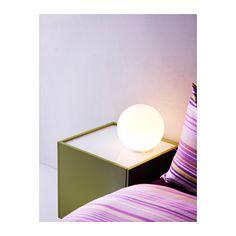 FADO Table lamp with LED bulb IKEA Creates a soft, cozy mood light in your room.
