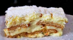 Portuguese Pineapple & Maria Cookies Cake This delicious Portuguese Pineapple and Maria cookies cake recipe (receita de bolo de ananas e bolacha Maria) is easy to prepare and doesn't require any… Related posts: No related posts. Cinnamon Cake Recipes, Lemon Dessert Recipes, Tart Recipes, Sweet Recipes, Delicious Desserts, Portuguese Desserts, Portuguese Recipes, Portuguese Food, Portuguese Sweet Bread
