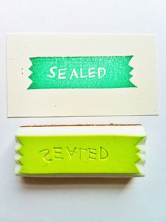 "more ""sending letters"" theme rubber stamps!  sealed hand carved rubber stamp by talktothesun"